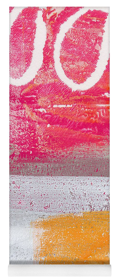 Abstract Yoga Mat featuring the painting Sweet Summer Day by Linda Woods
