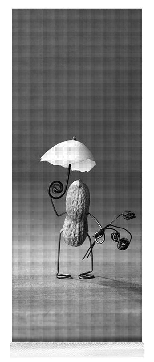 Peanut Yoga Mat featuring the photograph Taking A Walk 02 by Nailia Schwarz