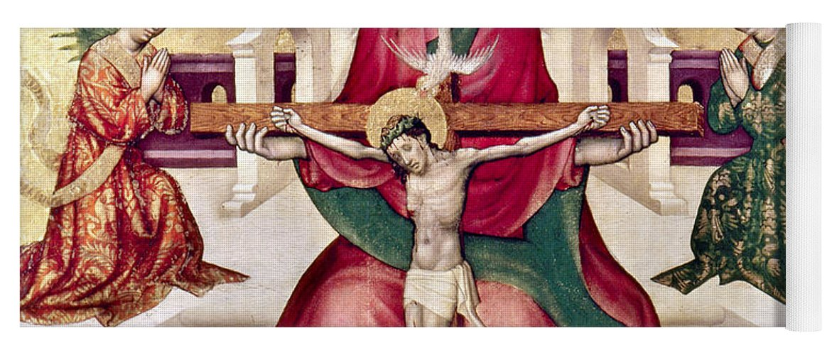 15th Century Yoga Mat featuring the photograph Trinity And Christ by Granger