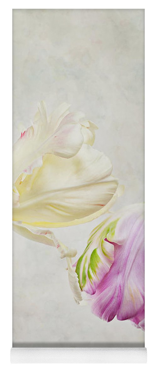 Tulip Yoga Mat featuring the photograph Two Tulips by Nailia Schwarz