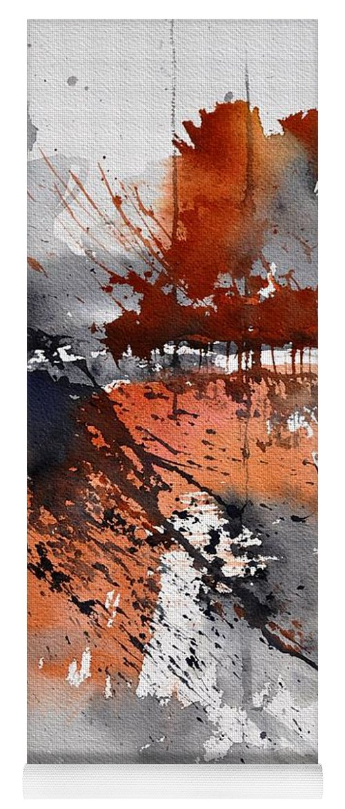 Abstract Yoga Mat featuring the painting Watercolor 217031 by Pol Ledent