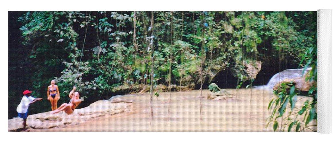 Jamaica Yoga Mat featuring the photograph Ys Falls2 Jamaica by Debbie Levene