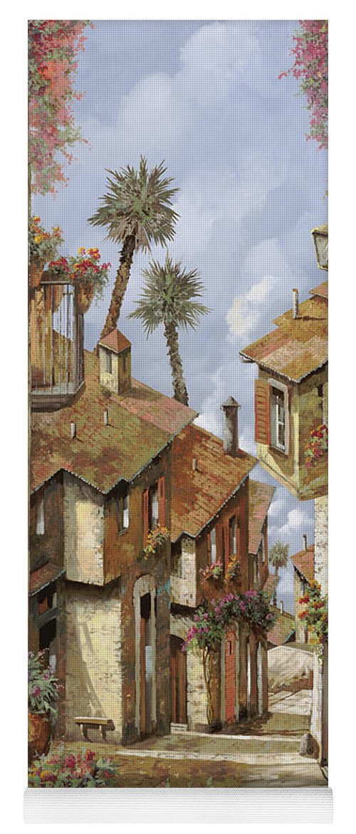 Landscape Yoga Mat featuring the painting Le Palme Sul Tetto by Guido Borelli