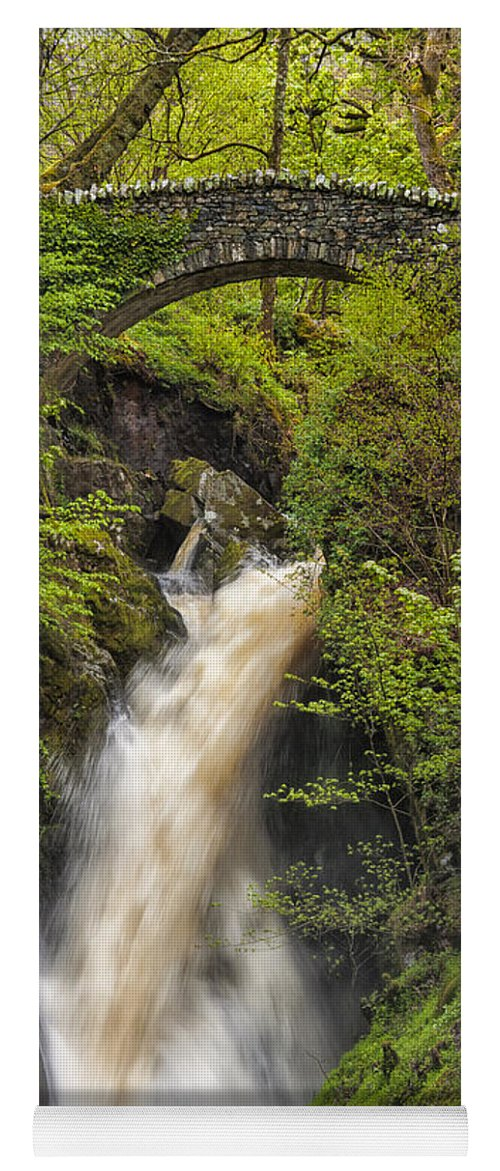 Aira Force Yoga Mat featuring the photograph Aira Force by Paul Cullen