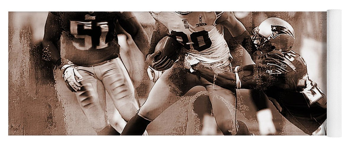 Russell Wilson Yoga Mat featuring the painting American Football 02 by Gull G