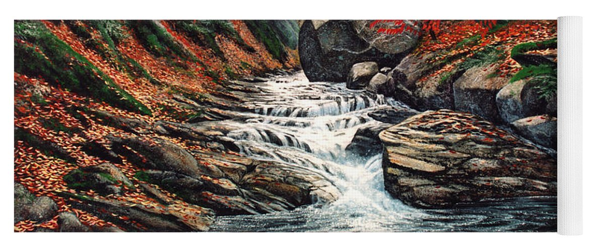 Autumn Brook Yoga Mat featuring the painting Autumn Brook by Frank Wilson
