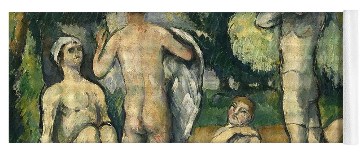 Bathers Yoga Mat featuring the painting Bathers by Paul Cezanne