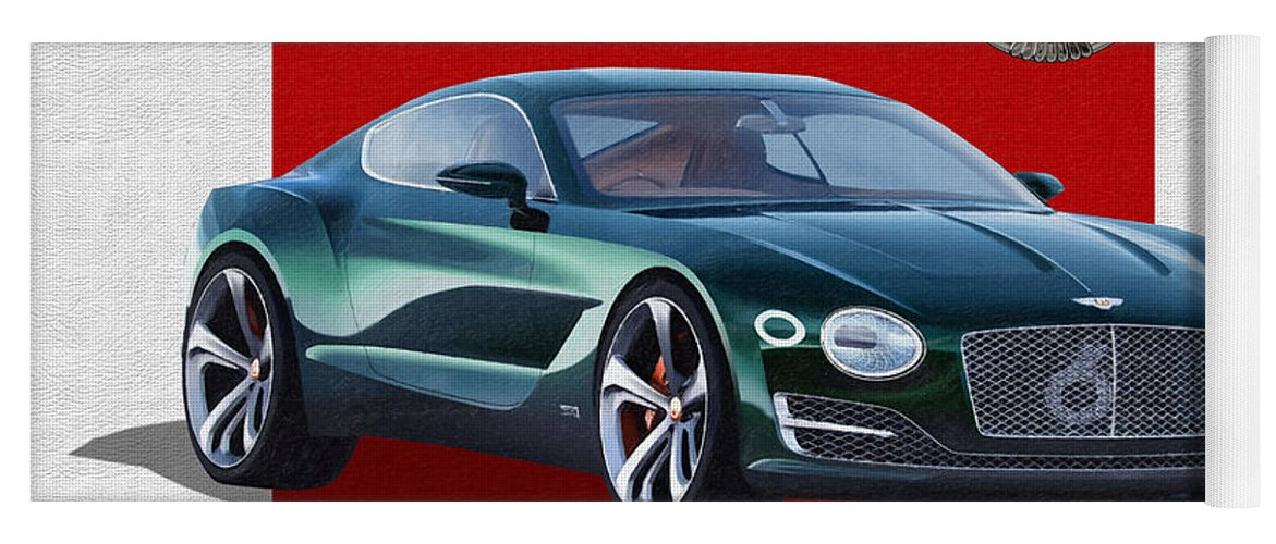 �bentley� Collection By Serge Averbukh Yoga Mat featuring the photograph Bentley E X P 10 Speed 6 with 3 D Badge by Serge Averbukh