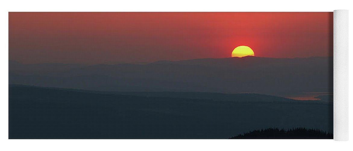 Hill Yoga Mat featuring the photograph Breathtaking Sunset At Tatra Mountains, Carpathian Region, Poland by Lukasz Szczepanski