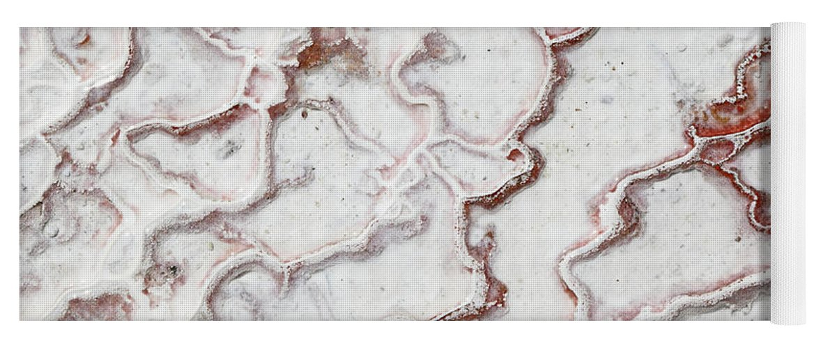 Yoga Mat featuring the photograph Calcium Deposits From Thermal Springs, Pamukkale - Turkey by Dia Karanouh