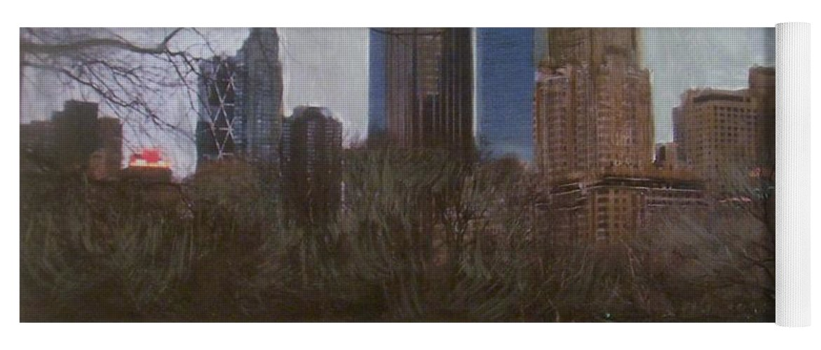 Central Park Yoga Mat featuring the painting Central Park by Anita Burgermeister