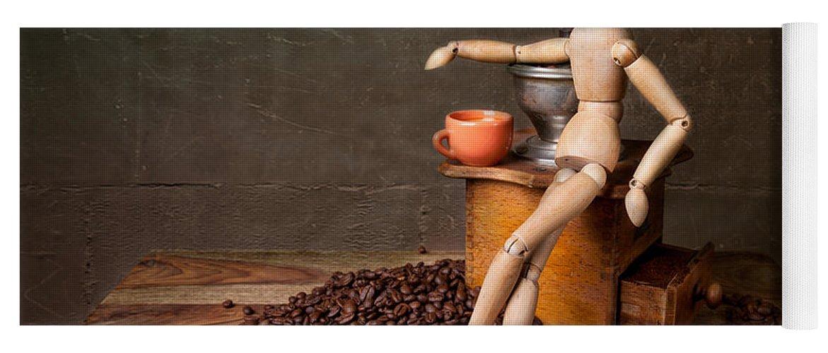 Still Yoga Mat featuring the photograph Coffee Break by Nailia Schwarz