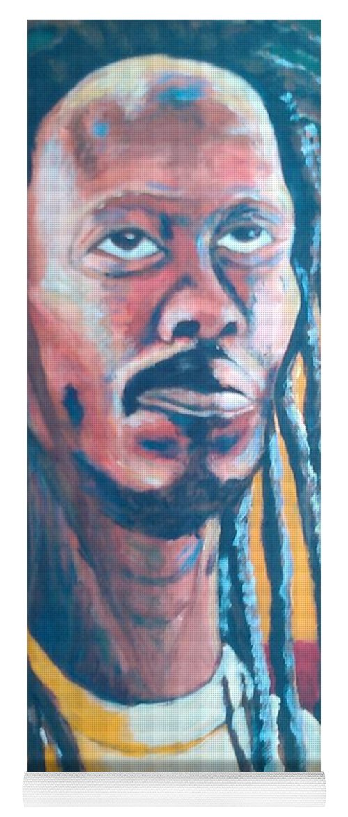 Rasta Portrait Yoga Mat featuring the painting ColorPS by Andrew Johnson