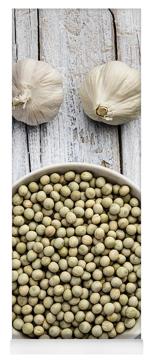Pea Yoga Mat featuring the photograph Dried Peas by Nailia Schwarz