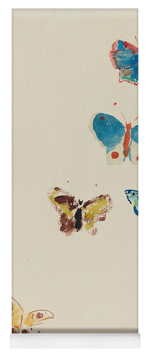 Five Butterflies Yoga Mat for Sale by Odilon Redon