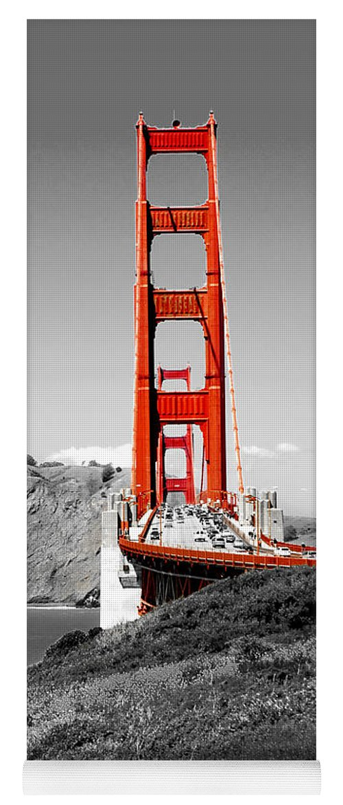City Yoga Mat featuring the photograph Golden Gate by Greg Fortier
