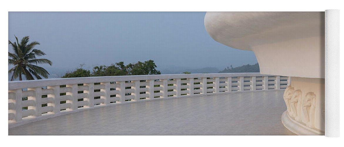 Japanese Peace Pagoda Yoga Mat featuring the photograph Japanese Peace Pagoda - Sri Lanka by Joana Kruse