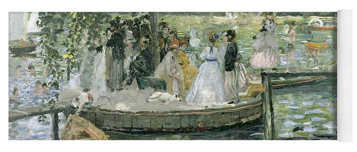 Grenouillere Yoga Mat featuring the painting La Grenouillere by Pierre Auguste Renoir