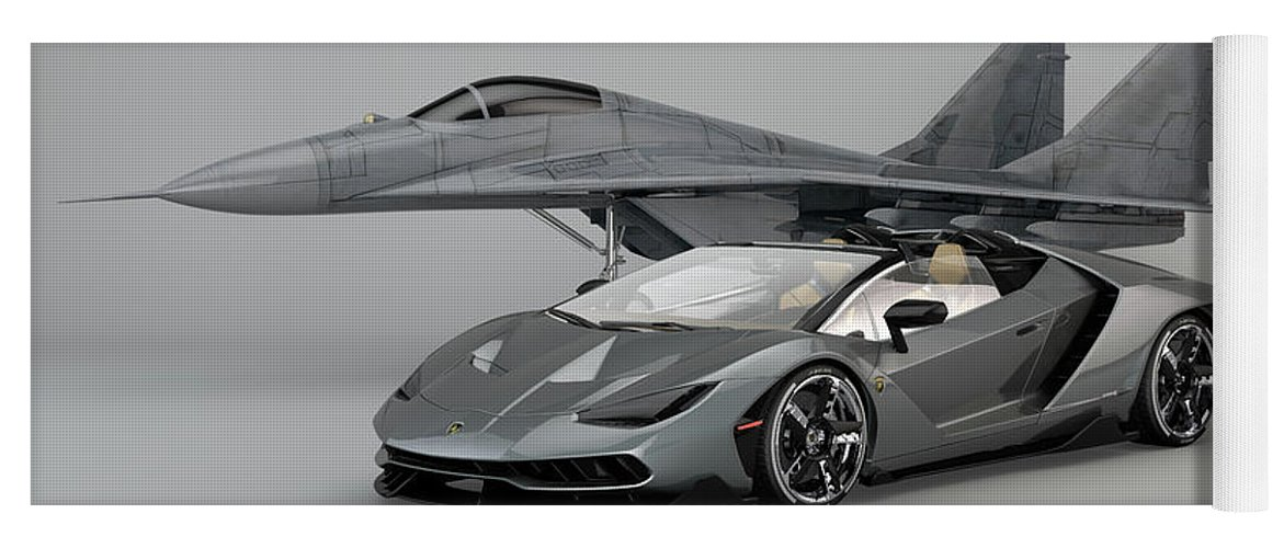 Lamborghini Centenario Roadster Yoga Mat For Sale By Louis Ferreira