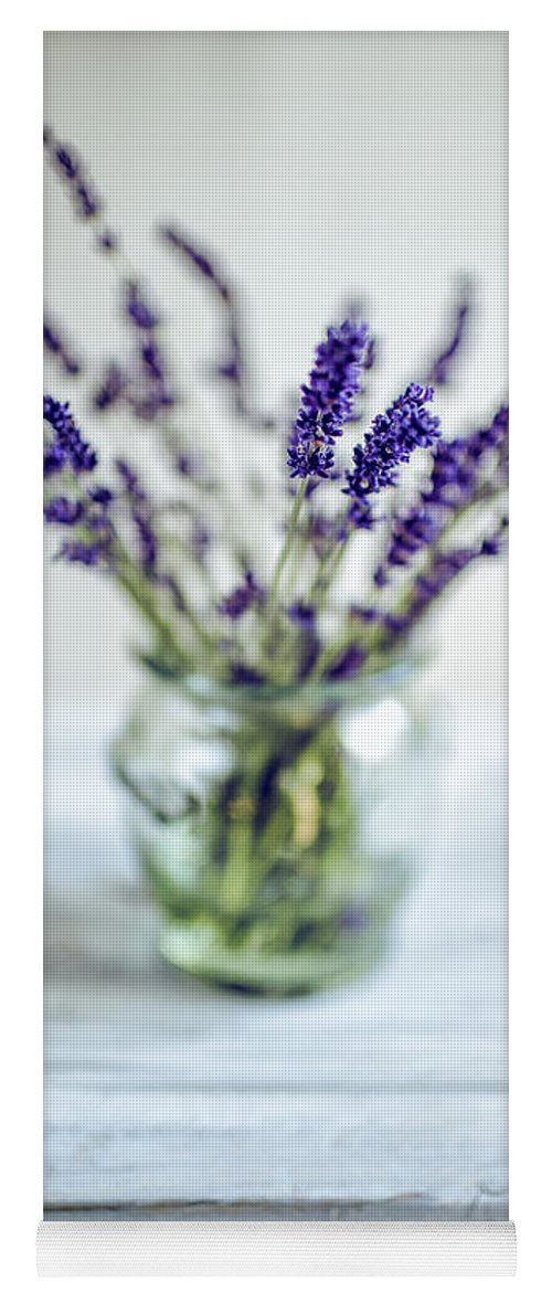 Lavender Yoga Mat featuring the photograph Lavender Still Life by Nailia Schwarz