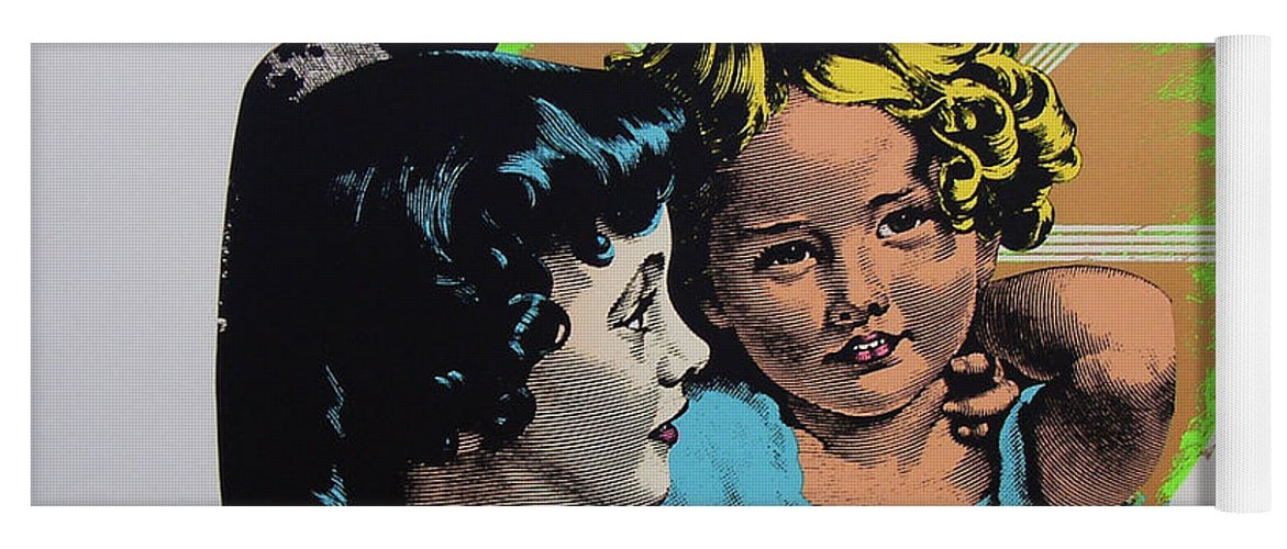 Madonna And Child Yoga Mat featuring the mixed media Madonna De Milo by Charles Stuart