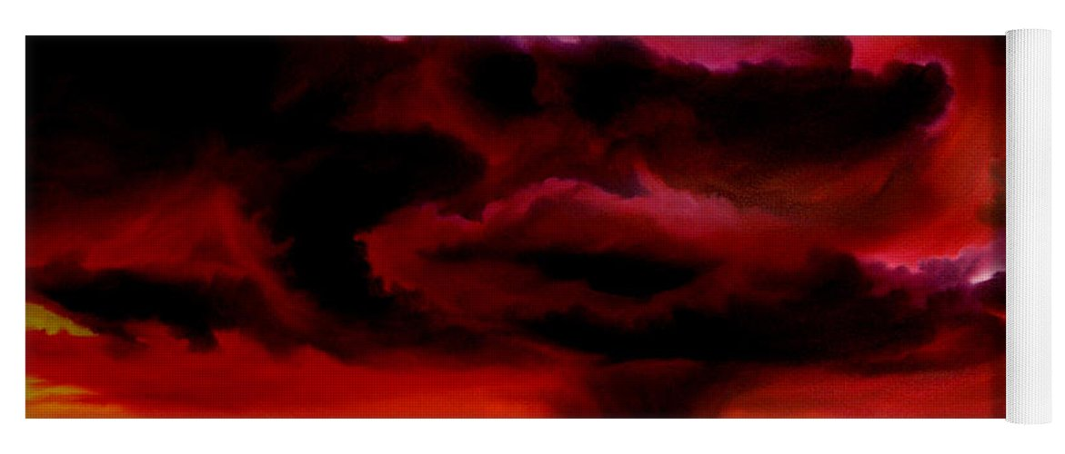 Skyscape Yoga Mat featuring the painting Microburst by James Christopher Hill