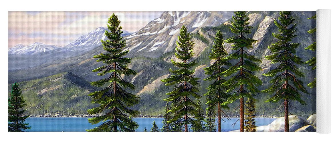 Landscape Yoga Mat featuring the painting Mountain Trail by Frank Wilson