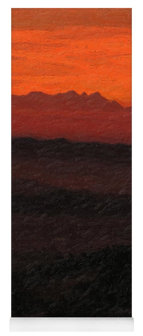 �not Quite Rothko� Collection By Serge Averbukh Yoga Mat featuring the photograph Not quite Rothko - Blood Red Skies by Serge Averbukh