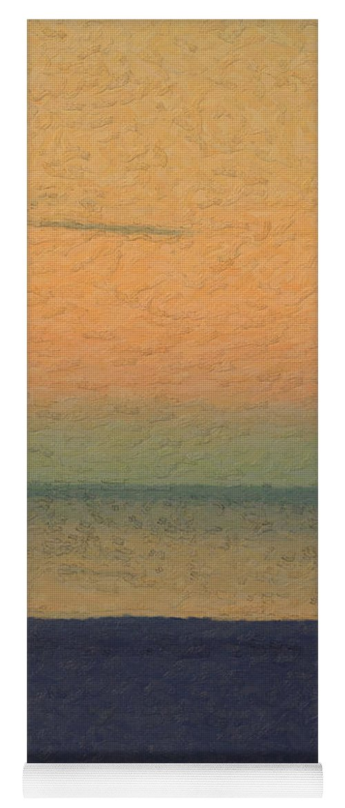 �not Quite Rothko� Collection By Serge Averbukh Yoga Mat featuring the photograph Not quite Rothko - Breezy Twilight by Serge Averbukh