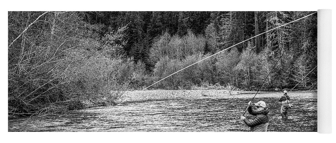 Flyfishing Yoga Mat featuring the photograph On the River by Jason Brooks