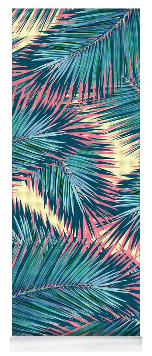 Summer Yoga Mat featuring the digital art Palm Trees by Mark Ashkenazi