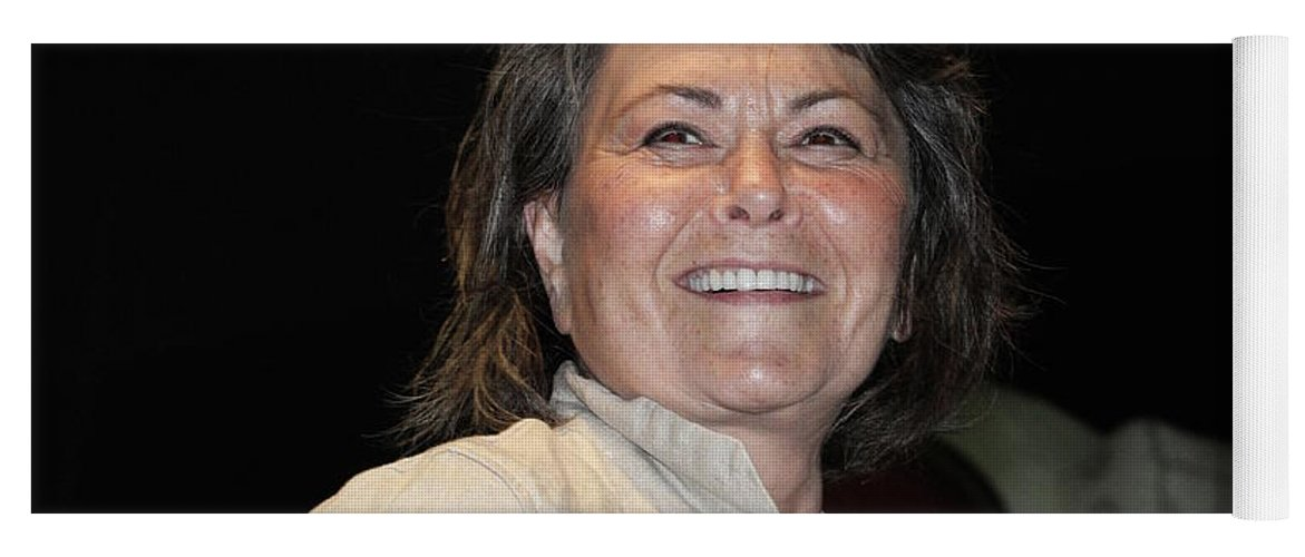 Presidential Candidate Roseanne Barr Yoga Mat featuring the photograph Roseanne Barr by Concert Photos