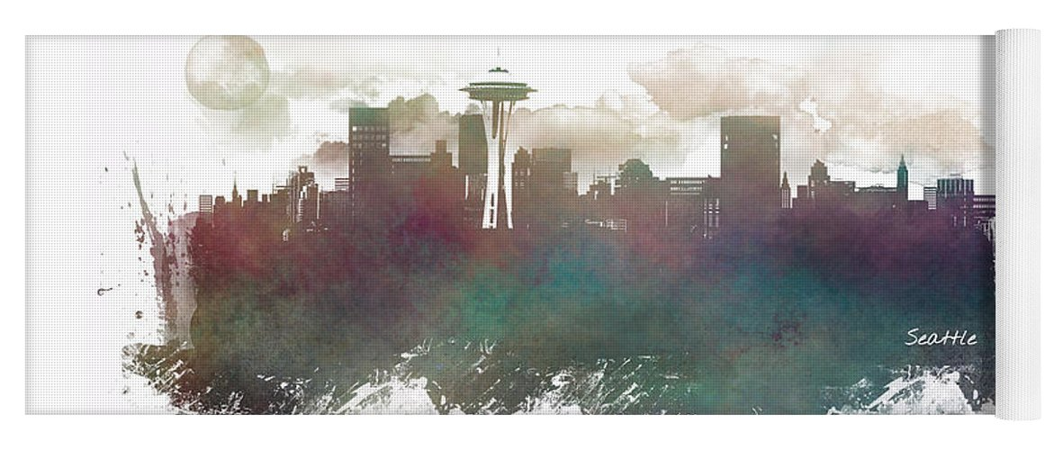 Seattle Washington Skyline Yoga Mat For Sale By Justyna Jaszke Jbjart