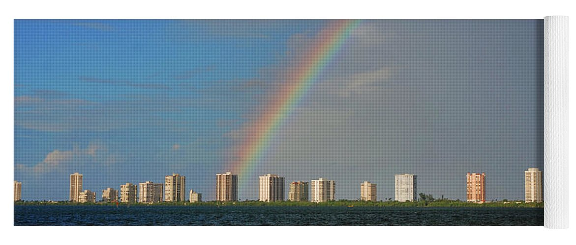 Rainbow Yoga Mat featuring the photograph 1- Singer Island by Rainbows