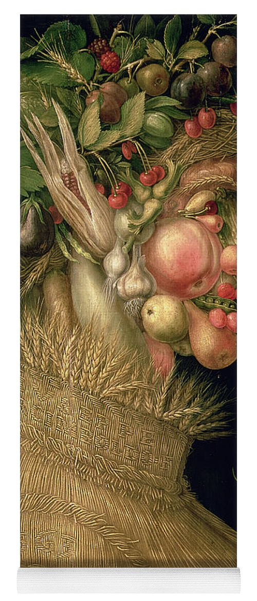 Summer Yoga Mat featuring the painting Summer by Giuseppe Arcimboldo