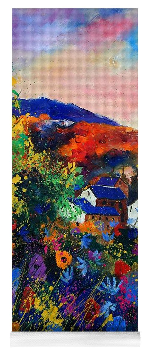 Landscape Yoga Mat featuring the painting Summer by Pol Ledent