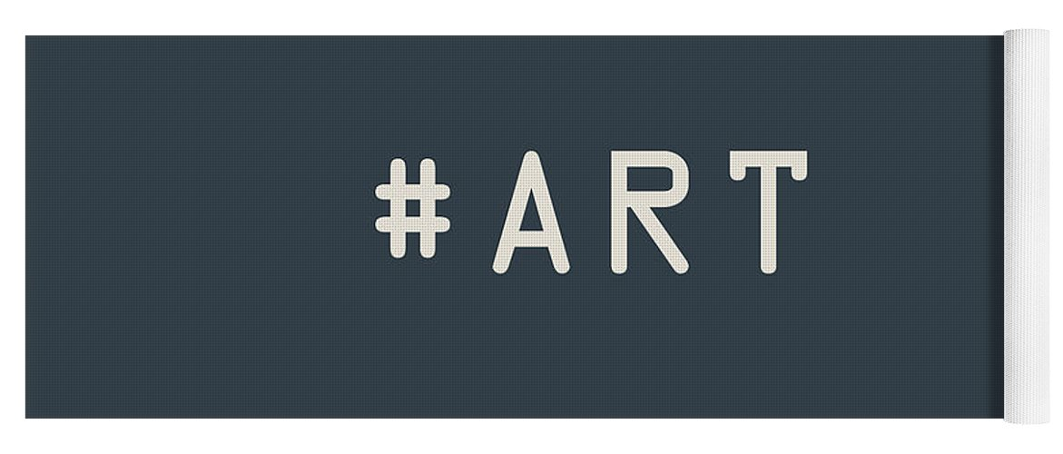 The Meaning Of Art By Serge Averbukh Yoga Mat featuring the photograph The Meaning of Art - Hashtag by Serge Averbukh