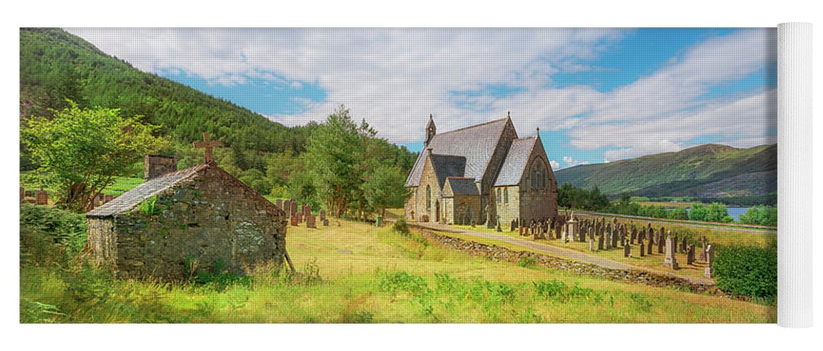 Ballichulish Church Yoga Mat featuring the photograph The Old Highland Church by Roy McPeak