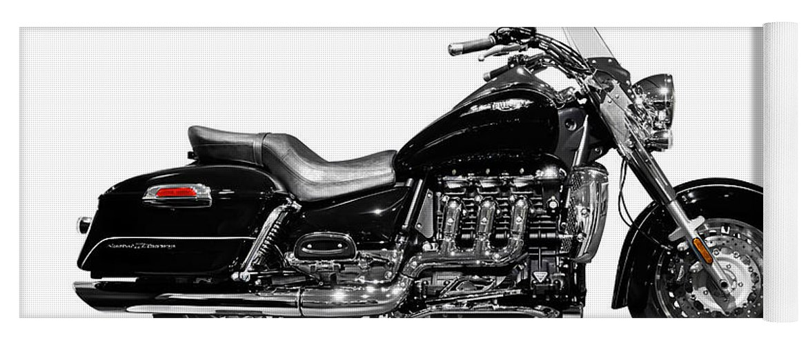 Motorcycle Yoga Mat featuring the photograph Triumph Rocket IIi Motorcycle by Maxim Images Prints