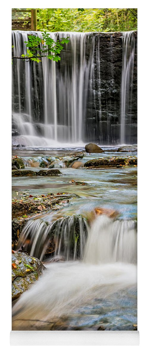 Water Yoga Mat featuring the photograph Welsh Waterfall by Adrian Evans