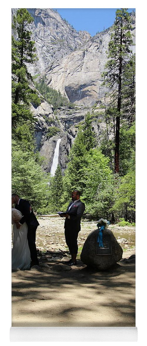 Yoga Mat featuring the painting Yosemite Wedding by Travis Day
