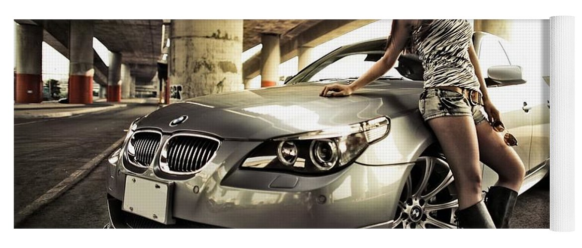 Bmw Yoga Mat featuring the photograph BMW by Mariel Mcmeeking