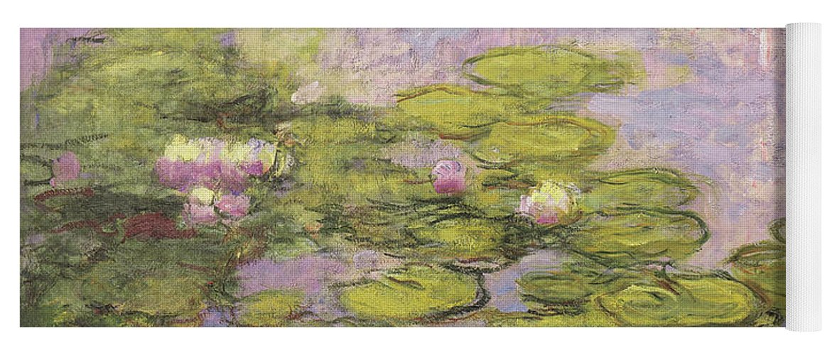 Monet Yoga Mat featuring the painting Nympheas by Claude Monet