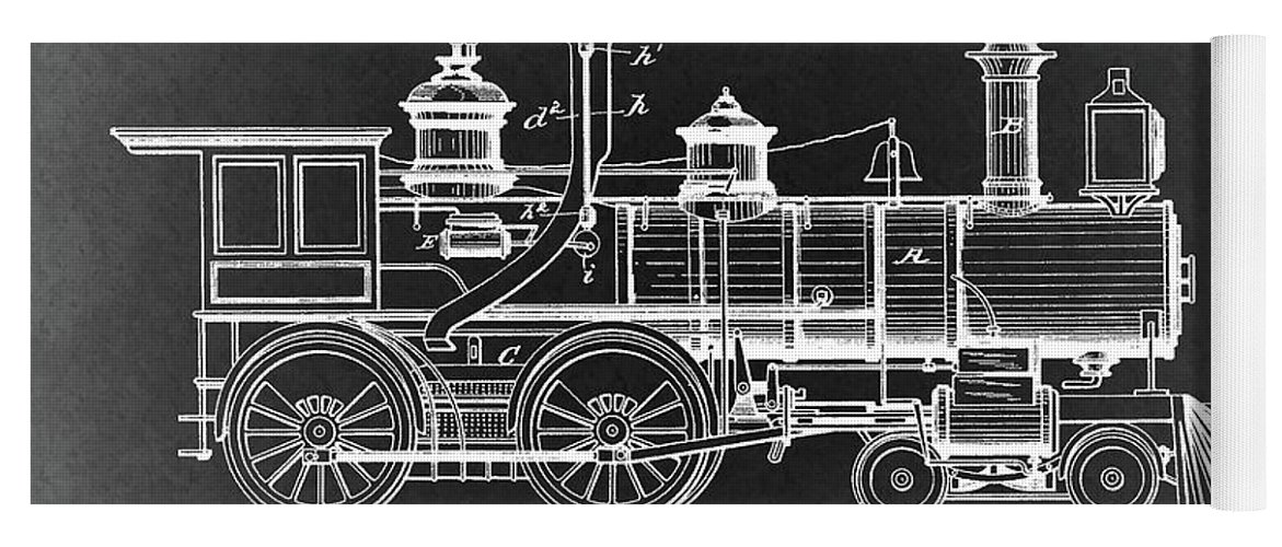 1894 steam locomotive blueprint yoga mat for sale by dan sproul 1894 steam locomotive patent yoga mat featuring the drawing 1894 steam locomotive blueprint by dan sproul malvernweather Gallery