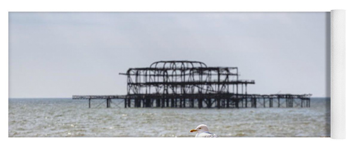 West Pier Yoga Mat featuring the photograph Brighton by Joana Kruse