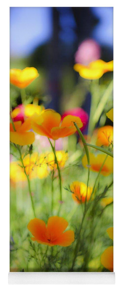 Yellow Yoga Mat featuring the photograph Flowering Garden by Gal Eitan