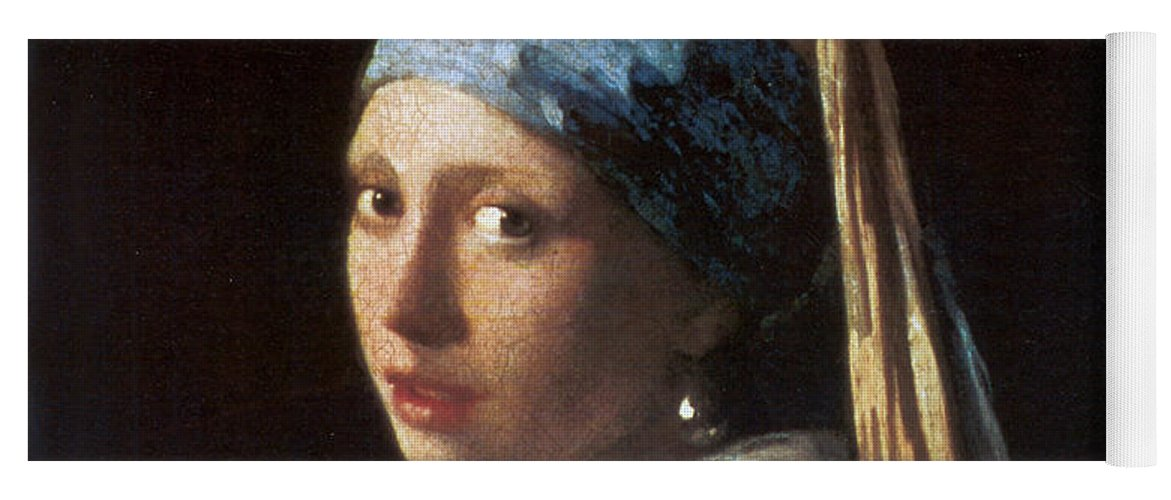 Jan Vermeer Yoga Mat featuring the photograph Girl With A Pearl Earring by Jan Vermeer