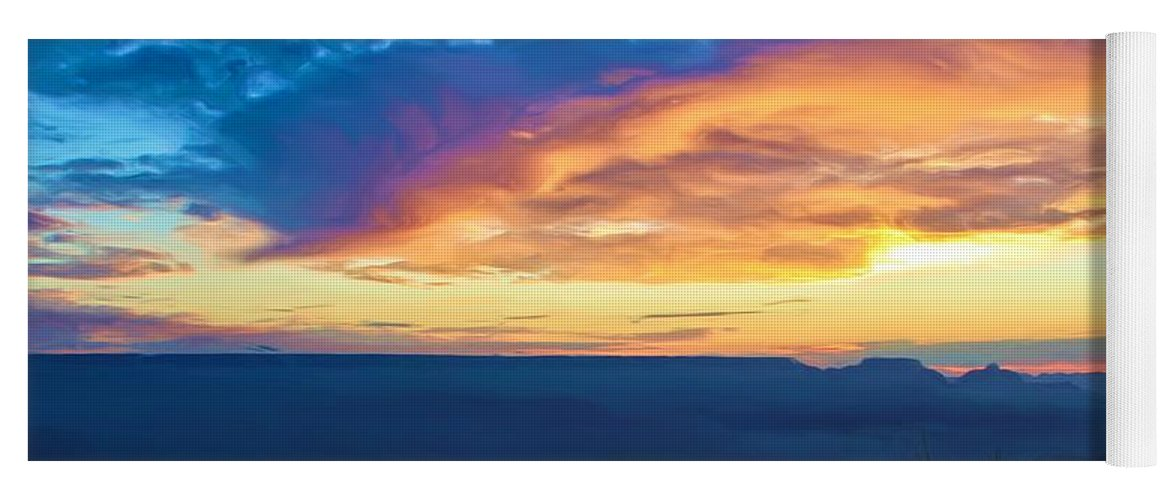 Grand Canyon Yoga Mat featuring the photograph Here Comes The Sun by Heidi Smith