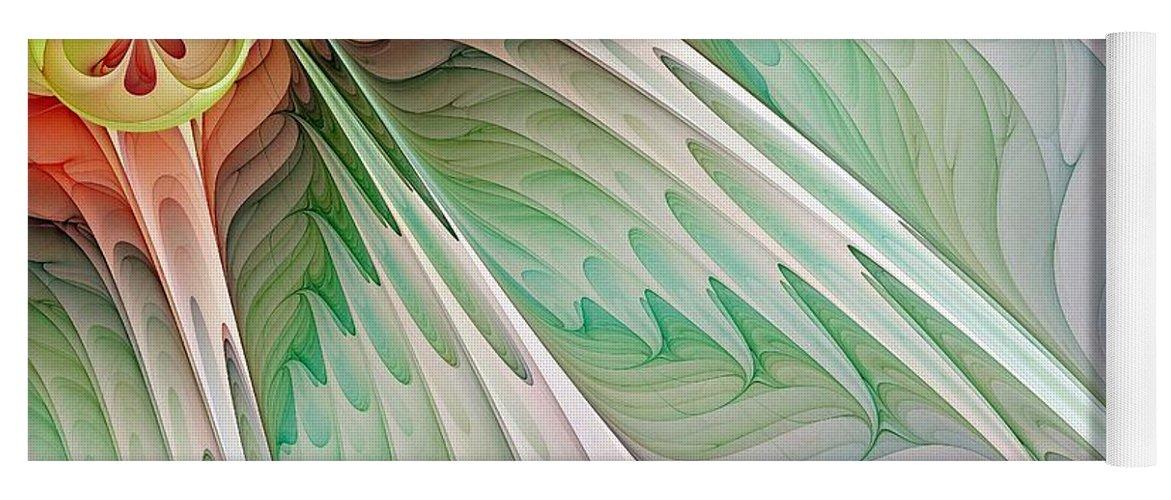 Digital Art Yoga Mat featuring the digital art Petals by Amanda Moore