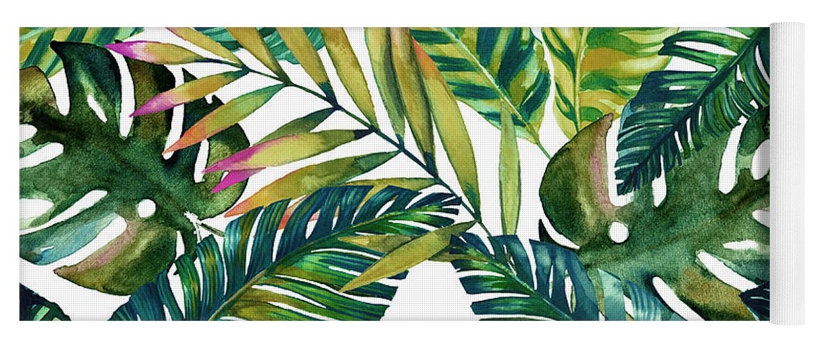 Summer Yoga Mat featuring the digital art Tropical by Mark Ashkenazi